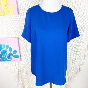 Topshop Maternity Top bright blue short sleeves